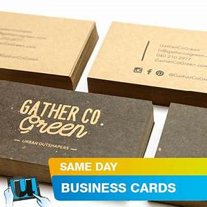 Same day business cards urgent business cards for Same day business card