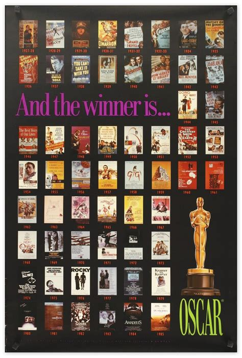 Academy Awards Best Picture Lot Detail Academy Awards Poster Featuring The Best