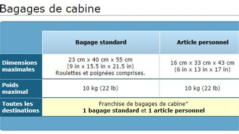 air transat bagage cabine bagages cabine air transat