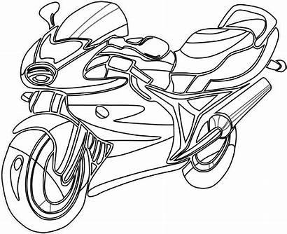 Coloring Clip Clipart Clipartpanda Motorcycle Colouring Line