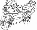 Coloring Motorcycle Pages Printable Motorbike sketch template