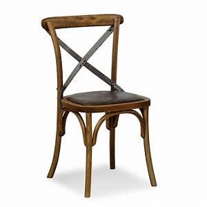 Chaise Fer Forgé Et Bois : se06 chaise viennoise en bois avec dossier crois en fer ~ Dailycaller-alerts.com Idées de Décoration