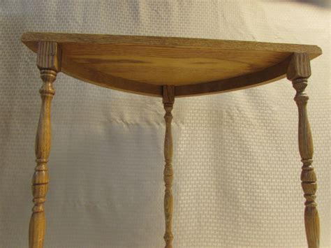 half round entry table lot detail nice little half round oak entry table