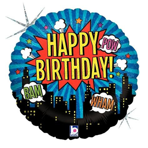 birthday balloons  city skyline birthday