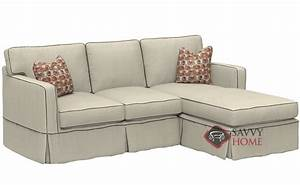 Jersey fabric chaise sectional by savvy is fully for Sectional sofa nj