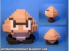 3D 8 Bit Goomba Papercraft