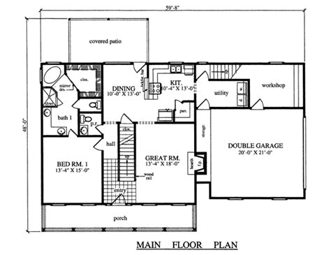 House Plan 79270 Country Style with 1967 Sq Ft 3 Bed 2