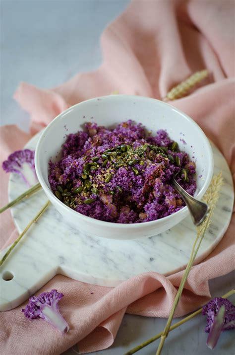 taboule de chou fleur violet recette tangerine zest