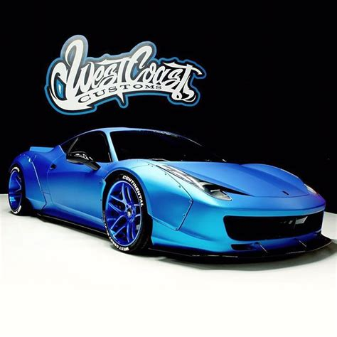 West coast customs hooked justin bieber's up again with a full matte wrap and liberty walk body kit. Pin by Jessica Reede on Vroom...Vroom...Baby | Ferrari 458, Liberty walk ferrari, Celebrity cars