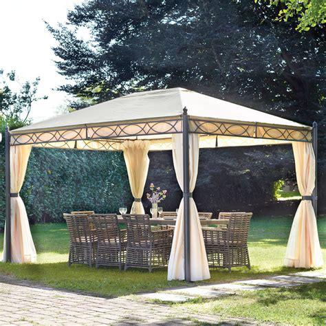 gazebi per giardino gazebo 3x4 in ferro da giardino completo di tende laterali