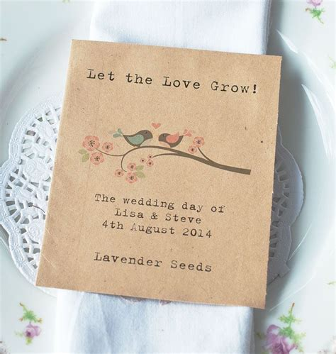 pretty wildflower seed packet wedding favour