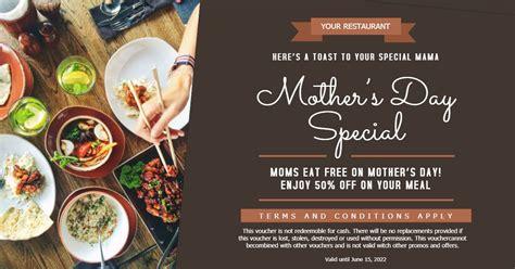 mothers day brunchlunch restaurant deal advert