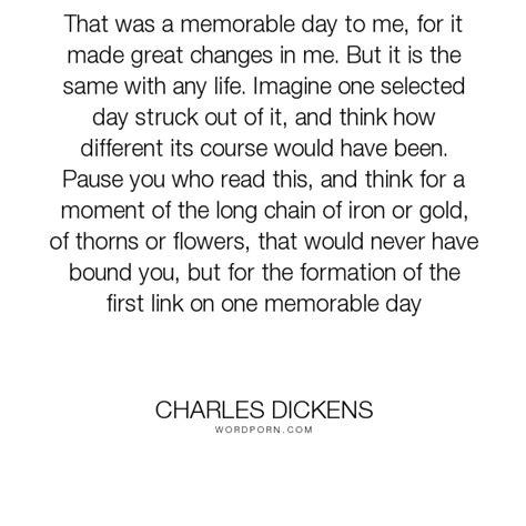charles dickens    memorable day