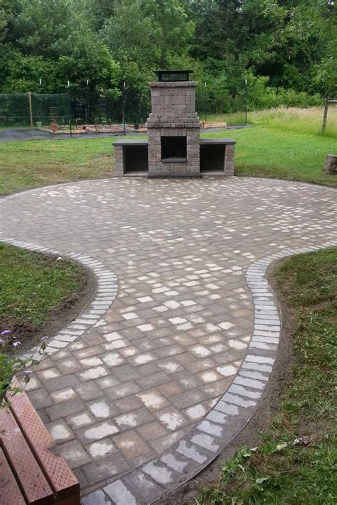 outdoor fireplace or pit chehalis outdoor fire pit matching paver patio ajb landscaping fence