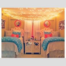 Dorm Room Blue And Pink Glam Love The Hanging Lights On