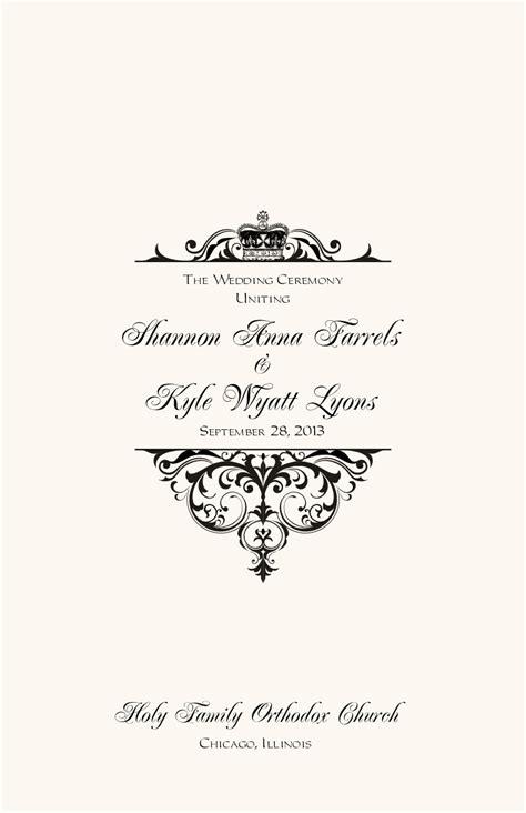 greek orthodox wedding program  wedding directories