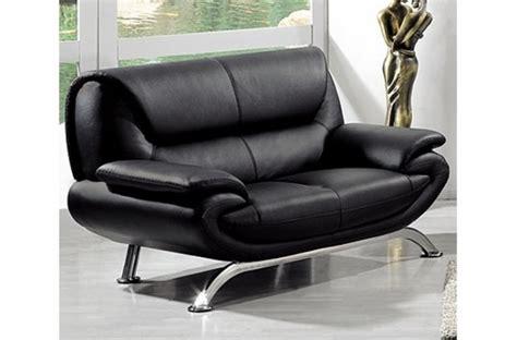 canap 233 2 places en cuir italien jonah noir mobilier priv 233