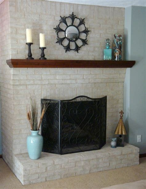 Paint For Inside Of Fireplace by Painting Brick Fireplace For Natural Look And Feel Brick