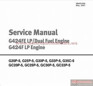 Doosan Forklift Service Manual G424fe Lp  Dual Fuel Engine G424f Lp Engine