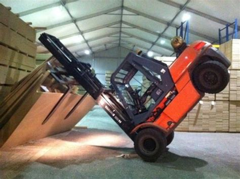 Stand Up Reach Forklift by Funny Forklift Pictures