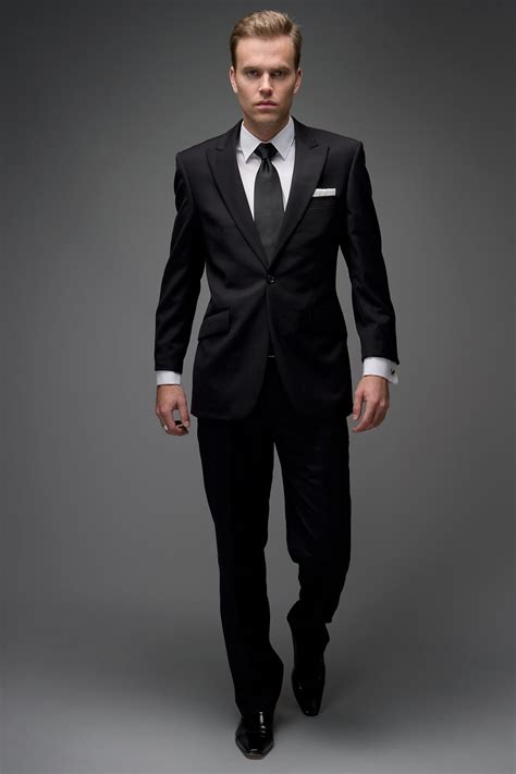 black mens black elevate a basic black suit with the