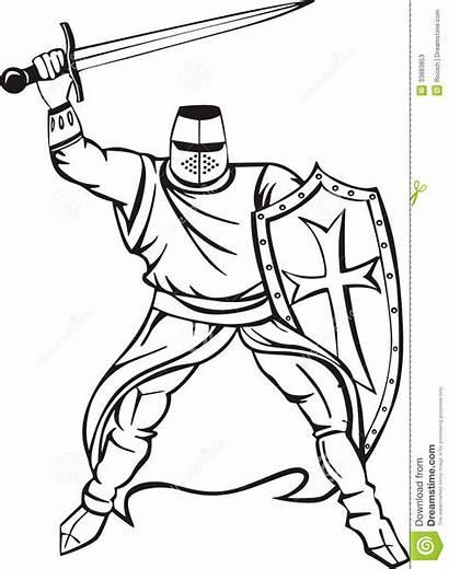Medieval Crusader Sword Knight Cavaliere Shield Medievale