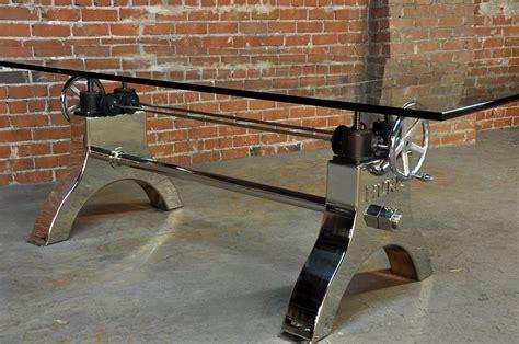 Hure Crank Table   Vintage Industrial Furniture