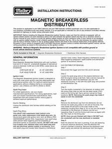 Mallory Installation Instructions