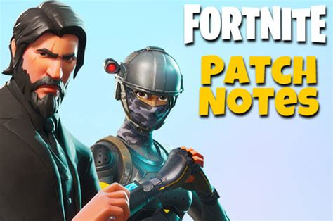 fortnite update season  patch notes revealed  ps
