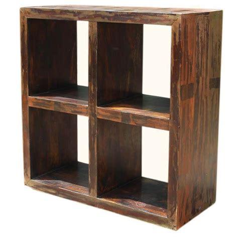 Primitive Bookcases by Primitive Open Back Mango Wood Entertainment Bookcase