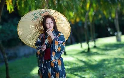 Asian Retro Umbrella Babes Kimono Parasol Japonka