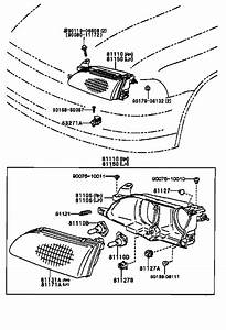 How Do You Remove The Headlight Assembly On A 1996 Toyota