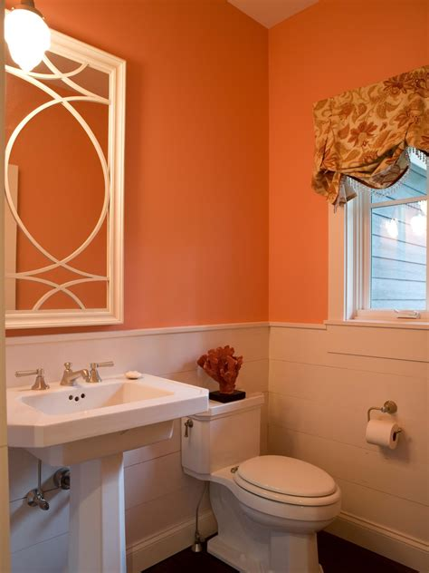 coral bathroom coral color palette coral color schemes color palette and schemes for rooms in your home hgtv