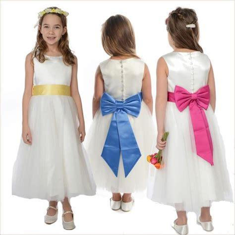dress with belt 5 flower bridesmaid dresses sashes bows flowers and
