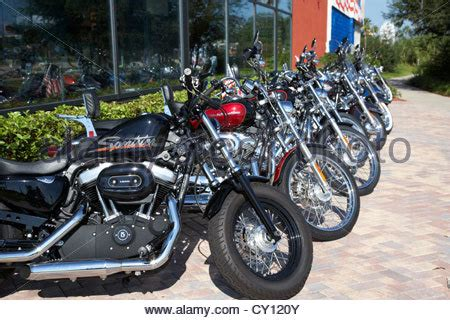 row  motorcycles including harley davidson  broadway