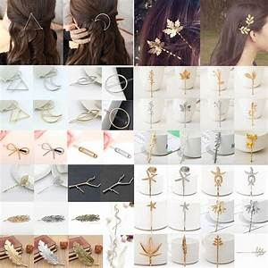 Fashion Women Gold Silver Geometry Triangle Hairpin Hair
