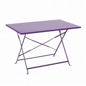 Table Pliante Metal : table de jardin pliante m tal camargue 110 x 70 cm ~ Teatrodelosmanantiales.com Idées de Décoration