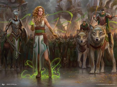 Mtg Art March Of The Multitudes From Guilds Of Ravnica Set By Zack Stella  Art Of Magic The