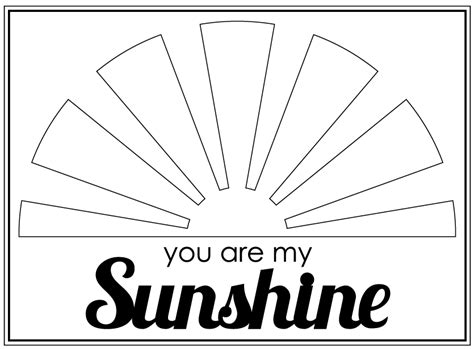 sunshine   sunshine coloring pages