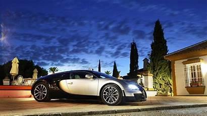 Mansion Bugatti Super Driveway Cars Night 1080