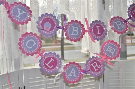 polka dot sweet shoppe 1st birthday party pizzazzerie highchair banner 1st birthday banner polkadots pink