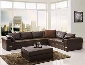 25 leather sectional sofa design ideas eva furniture With brown leather sectional sofa decorating ideas