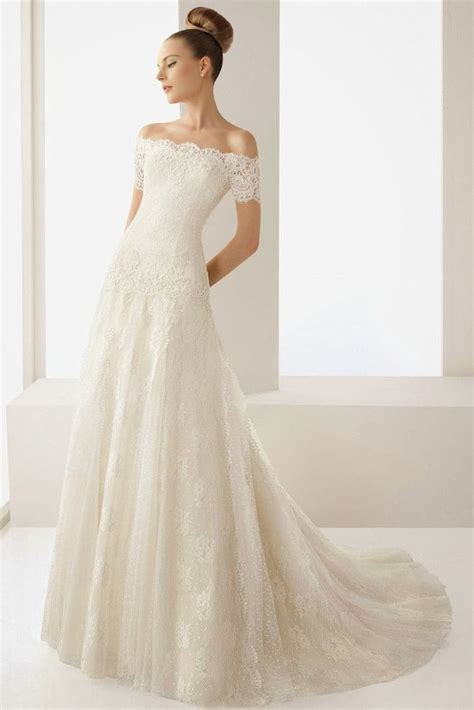 wedding blog charming   shoulder wedding dresses