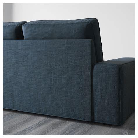 canapé avec meridienne ikea kivik canapé 3 places avec méridienne hillared bleu foncé