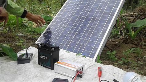 kerja listrik gratis solar cell tenaga matahari