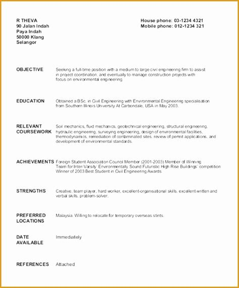 6 graduate fresher resume templates free sles