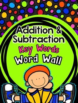 addition  subtraction key words word wall