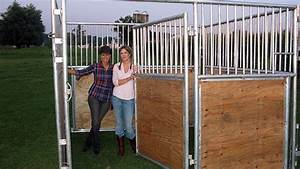 Portable horse stalls sunset valley metal craft for Building horse stalls yourself