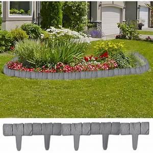 Bordure De Jardin : vidaxl bordure de jardin imitation pierre 41 pi ces 10 m ~ Melissatoandfro.com Idées de Décoration