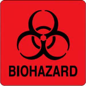 Red Biohazard Sign